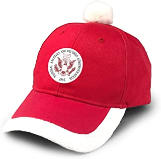 Seal of The United States National Archives and Records Administration Santa Baseball Cap with Print Christmas Hat Red