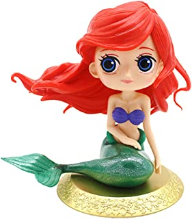 Cute Big Eyes Mermaid Doll Cake Toppers Birthday Cake Decoration Wedding Party Supplies(gold base)