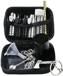 Vier kleuren draagbare Snuff Snorter Kit met tas (zwart)
