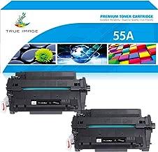 True Image Compatible Toner Cartridge Replacement for HP 55A CE255A 55X CE255X Laserjet P3015 P3011 P3010 Enterprise 500 MFP M521dn M521dw M525dn M525f Printer Ink (Black, 2-Pack)