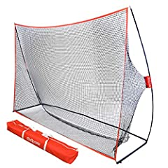 PERSONAL DRIVING RANGE: Improve your swing both indoors or outdoors with this portable at-home golf hitting net (mat not included) DESIGNED BY GOLFERS: Beware of other nets made by foreign companies with no real golf experience. The GoSports golf net...