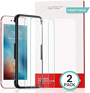 Screen Protector for iPhone 8/7/6s/6, 2-Pack [Alignment Frame] Tempered Glass Screen Protector for Apple iPhone 8/7 & iPhone 6s & iPhone 6 4.7 inch 2017 2016 Ultra Slim [Case Friendly] by Ainope