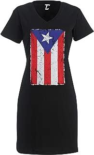 Distressed Puerto Rico Flag - Rican Latino Women's Nightshirt