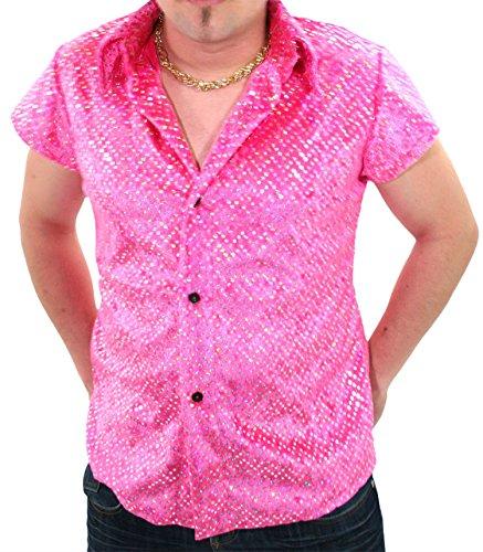Marco Porta Faschingskostüme Ltd. & Co. KG Party Chemise Rose avec Paillettes - - 48/50