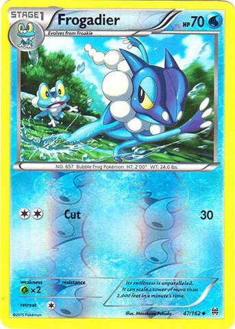 Pokemon - Frogadier (47/162) - XY Breakthrough - Reverse Holo