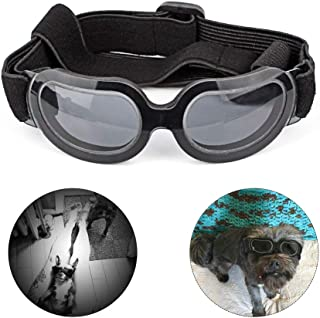 Petneces Dog Glasses Pet Sunglasses Love Heart Dog Goggles Foldable Eye Protection for Small Medium Dogs Poodle Pug Mini Dubin Corgi