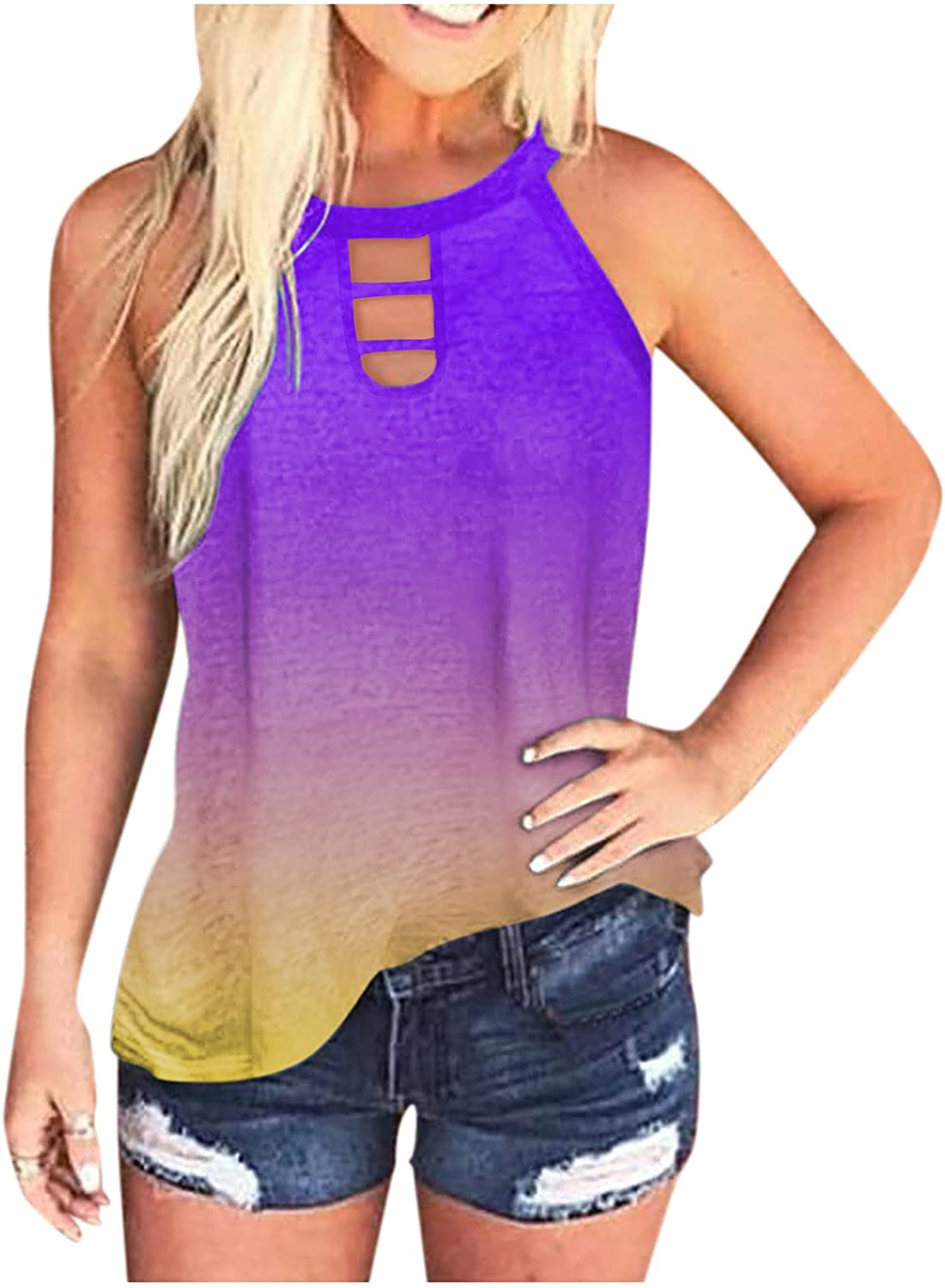 Gerichy Tank Tops for Women Casual, Womens Summer Loose Fit Sleeveless Fashion Tank Tees Shirts Blouses Vest Tunic Tops