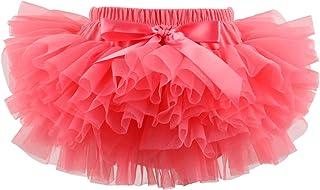 Slowera Baby Girls Soft Tutu Skirt (Skorts) 0 to 36 Months (M: 6-12 Months, Watermelon red)