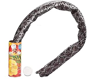 GYY Canned Potato Chip Snake Tricky Toy Pranks Magic Props Funny Scream Box Bouncing Snakes for April Fools' Day and Halloween Party