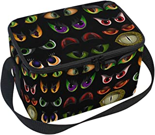 Lunch Bag Tote Bag Evil Eye Emoticons Lunch Box Insulated Thermal Lunch Holder for Men &Women