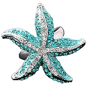 Claire Jin Stereo Starfish Full Delicate Fashion Statement Ring Women Party Fashion Jewelry  6