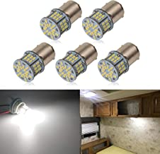 iBrightstar Super Bright 12-24V LED Bulbs 1141 1156 1003 1073 BA15S 7506 Replacement for RV Camper Interior Indoor Back Up Reverse Brake Tail Lights, Xenon White(6000K)