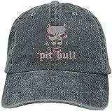 hyg03j4 Cool Pitbull Denim Hat Adjustable Unisex Fitted Baseball Cap
