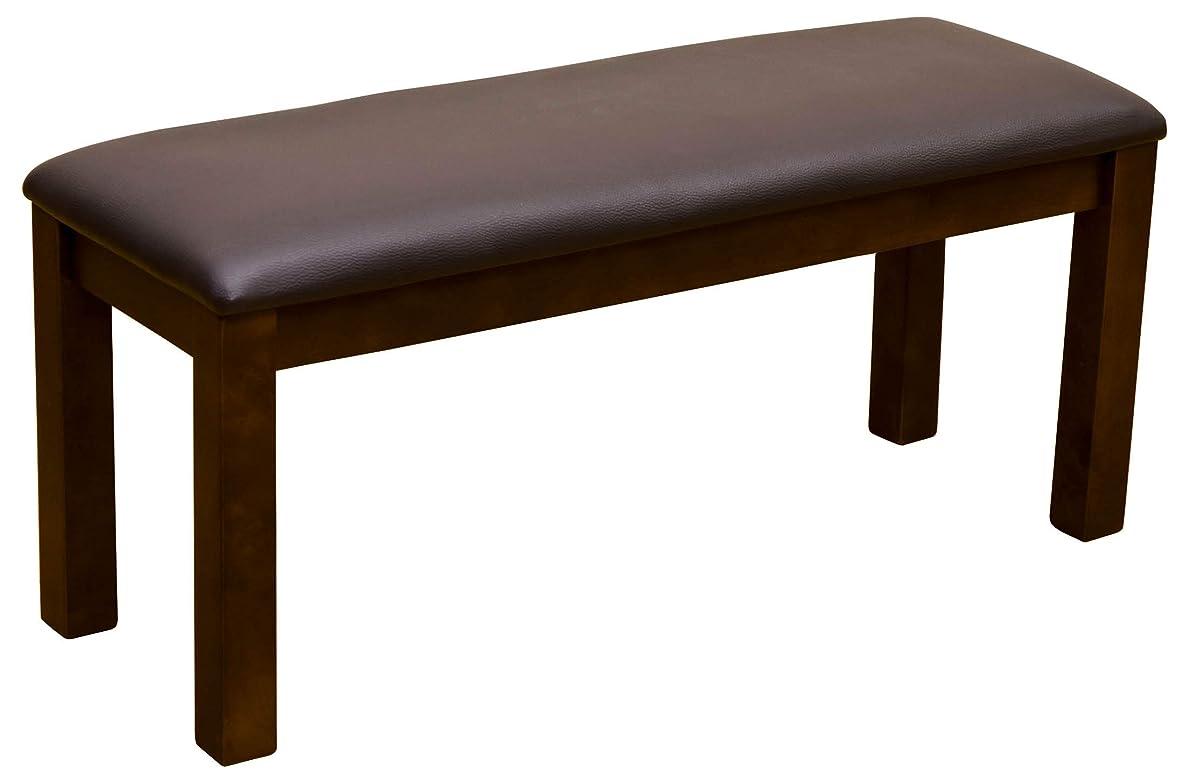 回復ブレンド哺乳類天然木 ダイニングベンチ 食卓椅子 チェア 椅子 96cm幅 (ダークブラウン/DBR)