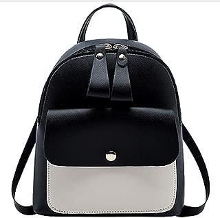 HMJZLyy Girls Mini Backpack Crossbody Shoulder Bag Large Capacity Backpack Leisure Bag (Color : Black)
