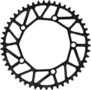46 T 48 T 52 T 54 T 56 T 58 T 歯板 幅が狭い アルミニウム合金 130 BCD 正の陰性歯 車輪 チェーンリング クランクセットプレート 歯板(48T,black)