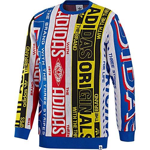 adidas Maglione Uomo Scarf Knit Crew ED6138 (L - Multicolor)