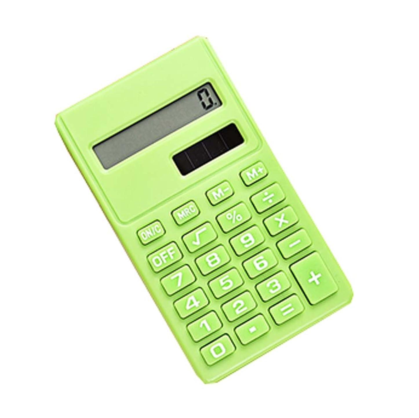 試用規模フクロウクリエイティブミニソーラーパワーカードポータブル電卓グリーン