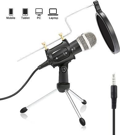 professione PC microfono – Nasum Plug & Play microfono a condensatore per PC/computer, iPad, podcast, chattare online come Facebook, MSN, Skype, con cavo audio (3.5mm Plug) - Trova i prezzi più bassi