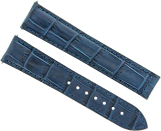 22MM LEATHER STRAP BAND FOR 45MM - 45.5MM OMEGA SEAMASTER PLANET OCEAN BLUE