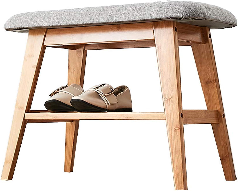 MEIDUO Shelves 2-Tier shoes Racks Organizer Perfect Bench Seat Storage for Hallway Bathroom Garden, Closet, Bedroom 33 11.8 17.7