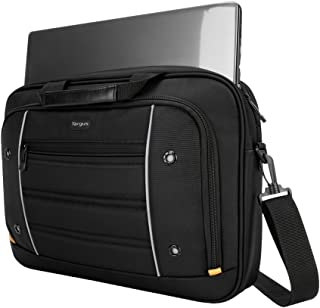 Targus Drifter Topload Carrying Briefcase for Professional Business Commuter and Travel with Protective Sleeve for 16-Inch Notebook/Laptop, Black (TBT271)