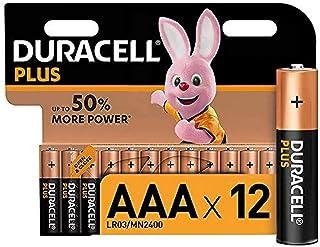 Duracell Plus Mono Alkaline Batterijen LR20, AAA, 12 Stuk, Oranje/Zwart