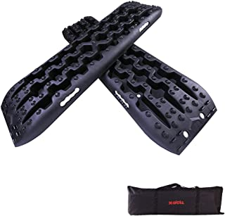 X-BULL New Recovery Traction Tracks Sand Mud Snow Track Tire Ladder 4WD (Black)