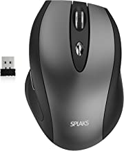 Splaks Wireless Mouse, 2.4Ghz Wireless Mice Portable Office Mouse 3 Adjustable DPI with Nano USB Receiver for Computer, Laptop, MacBook