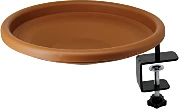 yosager Bird Bath Deck Bowl Spa Mount Bird Bath Unheated with Lightweight Detachable, Adjustable Heavy Duty Sturdy Steel, ...