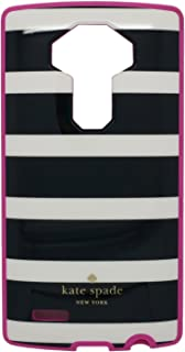 Kate Spade New York Flexible Hardshell Phone Case - LG G4 - Black White Stripes, Pink