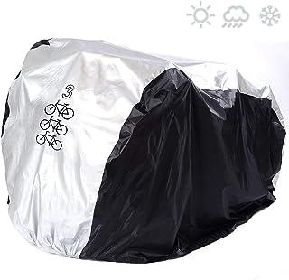 SACONELL - Funda impermeable para 3 bicicletas (resistente al polvo y a los rayos ultravioletas)