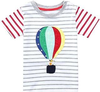 Aijoo ??子供服 男の子 トップスパンツ 丸首 半袖 長袖tシャツ ベビー服 赤ちゃん服 ボーイズ 夏服 可愛い 花柄 人気 紳士シャツ コットン