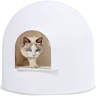 Pidan Cat Litter Box with Lid Large with Scooper Cat Litter Pan Snow House Igloo Solide and Durable Easy to Clean with No...
