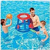 Aufblasbarer Basketballkorb Ca. 60 cm, Wasser Basketball Korb Mit Ball, Aufblasbares Poolspielzeug Schwimmendes Poolspiel Kinder Schwimmbad and Strand Spaß
