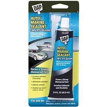 Dap 00694 2.8-Ounce Silicone Rubber Auto/Marine Sealant, Clear