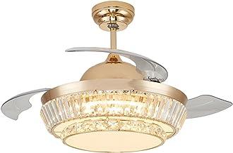 Luxe ventilator met klaverblad-motief, LED-ventilator, plafondventilator, woonkamer, eetkamer, slaapkamer, decoratie