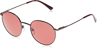 نظارات شمسية مدورة للرجال من كالفن كلاين- عدسات لون احمر، CK18104S-009