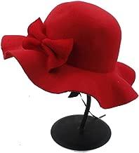 New Winter Autumn Wool Children Soft Fedora Hat for Girl Bucket Cap Felt Bowler Sun Hat Kids Flower Top Hat