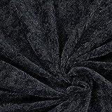 Fabulous Fabrics Pannesamt schwarz, Uni, 150cm breit –