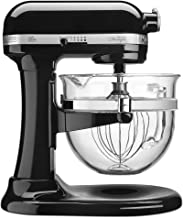 KitchenAid KF26M22OB 6-Qt. Professional 600 Design Series with Glass Bowl - Onyx Black