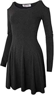 MRstriver Women's Casual Slim Fit and Flare Round Neckline Dress