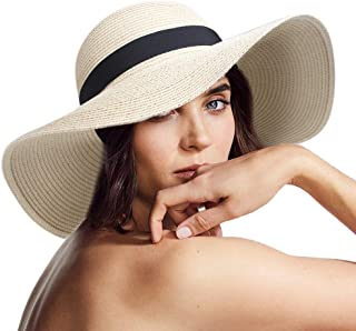 FURTALK Sun Women Straw Hat UPF 50+ Beach Finshing Hats for Women Bucket Hat with Neck Cord