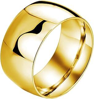 Aienid Bague Acier Couple Alliance Acier Inoxydable Argent Bague Religieuse Rotative 11.6Mm Bague