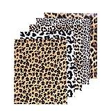 SOMOLUX Vinilo termoadhesivo de 30,5 x 25,4 cm, diseño de leopardo, estampado de animales salvajes, vinilo HTV para decoración de camisetas, manualidades, paquete de 5 unidades