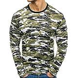 Yvelands Liquidación de Camisas para Hombres, Camiseta Militar de Manga Larga para Asalto rápido, Ajustada, para Hombres, (Army Green,L)