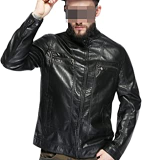 Men's Leather Jacket Leather Brown Men Jacket Faux Leather Men Jacket
