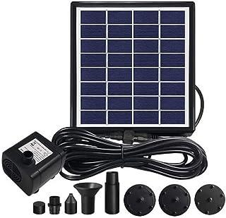 DeeCozy 6 W solreservospump, soldrivna vattenreservoar dränkbar pump med 7 munstycken, flytande pump för fontän, fågelbad,...