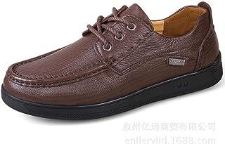 Dingziyue - Scarpe da uomo casual in pelle, scarpe comode (colore: nero, taglia 46)