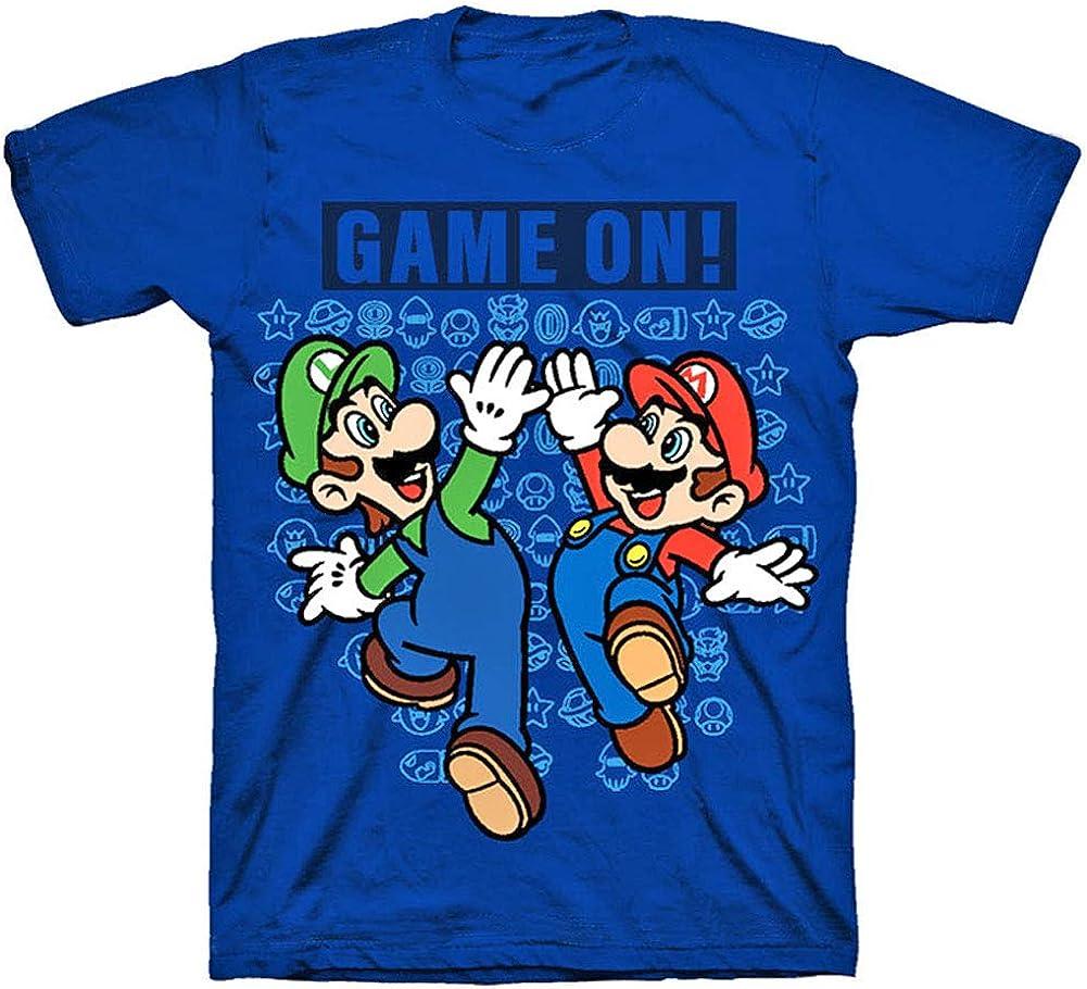 Nintendo Super sale Mario Little Graphic Tee Shirt Deluxe Boys